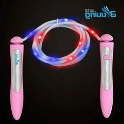 Led Fun Jump Rope Light Up - Fitness Adjustable Flashing Col