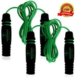 Epitomie Fitness PowerSkip Jump Rope with Memory Foam Handle