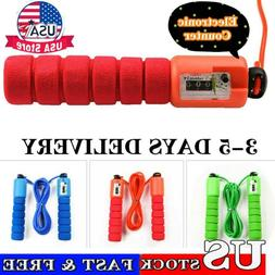 Pro Electronic Counting Skipping Rope Calorie Fitness Workou