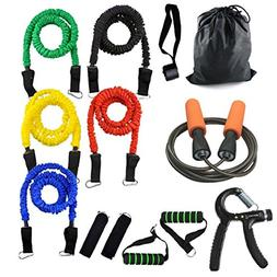 YZLSPORTS 13Pcs Resistance Band Set,Heavy duty Workout Fitne