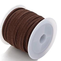 2.6mm 5 Yards Per Rolls Suede Velvet Leather Cord String Rop