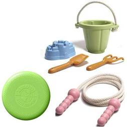 Green Toys Sand Play Set Plus Pink Jump Rope and EcoSaucer F