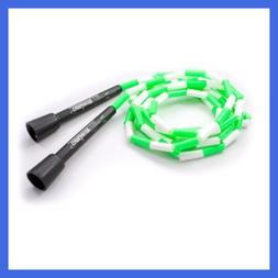 Buyjumpropes Segmented Jump Rope GREEN WHITE 9 Ft FEET Sport