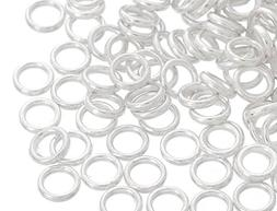 Souarts Silver Color 20 Gauge Closed Jump Rings 6mm Pack of