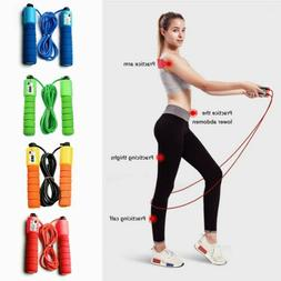 Skipping Jump Rope Adjustable Bearing Speed Fitness Sport Gy