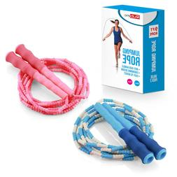 Soft Beaded Jump Rope Tangle-Free,Segmented Speed Jumping  R