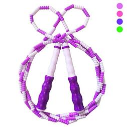 Soft Beaded Segmented Jump Rope - Tangle-Free Jumping Rope -