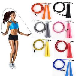 Speed Adjustable Jump Rope Wire Skipping Fitness Sport Cardi