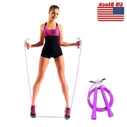 Speed Adjustable Jump Rope Wire Skipping Fitness Sports Card