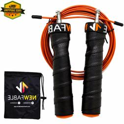 Speed Jump Rope Adjustable Crossfit Wire Cable Skipping Doub