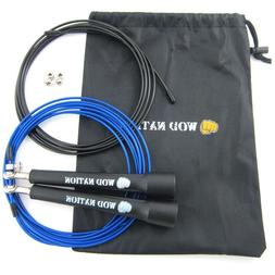 WOD Nation Speed Jump Rope. Black handles.
