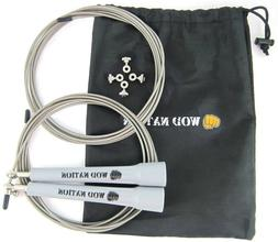 WOD Nation Speed Jump Rope. Gray handles.
