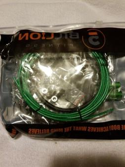 5BILLION Speed Jump Rope green Aluminum - Workout for Double