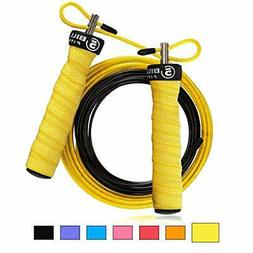5BILLION Speed Jump Rope - Nature Handle - Adjustable with B