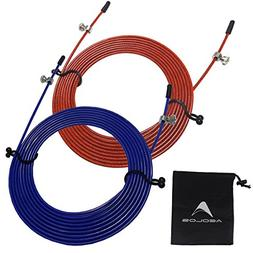 AEOLOS Speed Jump Rope Replacement Cable, 2 Pack 10ft Stainl