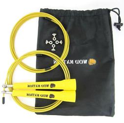 WOD Nation Speed Jump Rope. Yellow handles.