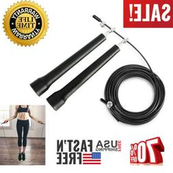 Speed Jump Skipping 11ft Rope Adjustable Cable Boxing Fitnes