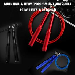 Speed Skipping Jump Rope Adjustable Steel Wire lose weight E