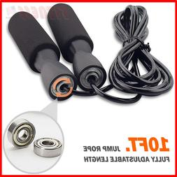 speed skipping jump rope adjustable