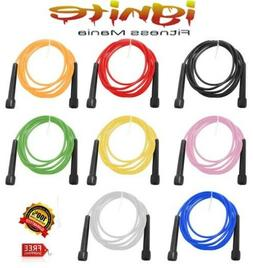 SPEED SKIPPING JUMP ROPE FITNESS CARDIO AEROBIC BOXING MMA G