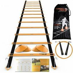 Speed Training Set - Agility Ladder, Jump Rope, Sport Cones