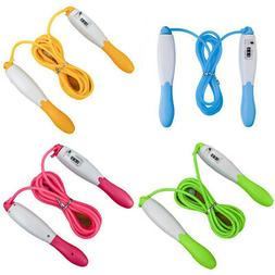 Sport Fitness Jump Rope With Counter Skipping Ropes Kid Adul