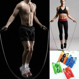 Sports Jump Ropes With Counter Fitness Adjustable Fast Speed