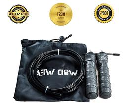 Steel Wire Jump Rope Adjustable Cross Fitness Speed Skipping