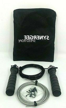 Synergee Speed Jump Rope - Adjustable 10 Foot Cable. Ball Be
