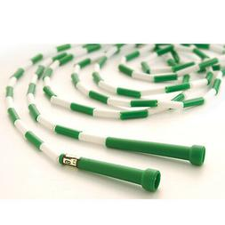 Jump Ropes 16' by US Games, Segmented - Green/White