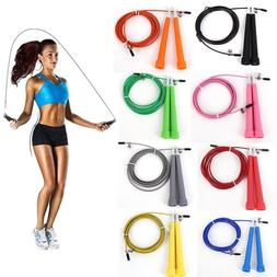 US! Steel Wire Speed Skipping Jump Rope Adjustable Crossfit