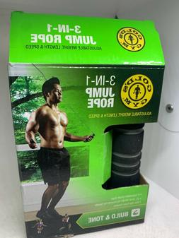 Gold's Gym Weighted Adjustible 3-in-1 Jump Rope
