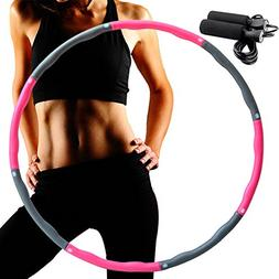 LEIGE Weighted Hula Hoop,8 Section Detachable Design ,Da