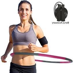 Toneseas Weighted Hula Hoop for Exercise Adults Kids, Fitnes
