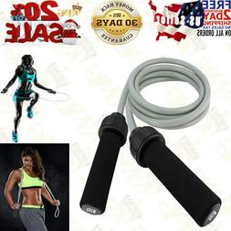 Weighted Jump Rope -  Solid PVC for Crossfit and Boxing - He