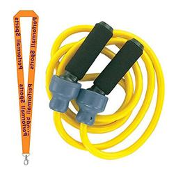 Champion Sports Weighted Jump Rope 3lb Yellow Bundle with 1