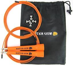 WOD Nation Speed Jump Rope - Blazing Fast Rope for Endurance