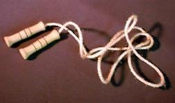 Folk Toys Wood & Natural Rope Classic Jump Rope w/ Wooden Ha
