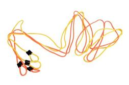 Yellowtails Double-Dutch Jump Rope: Orange/Yellow - 14 feet
