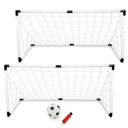 K-Roo Sports Youth Soccer Goals with Soccer Ball and Pump